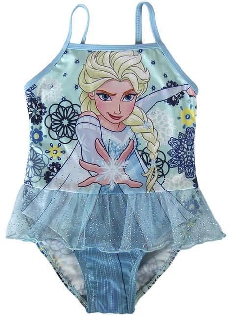 Jednodílné plavky Elsa pro dívky modré - Ledové království