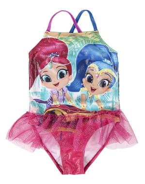 Jednodílné plavky Třpytka a Světla pro dívky
