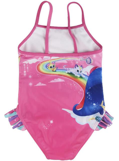 Bañador de Shimmer and Shine rosa para niña