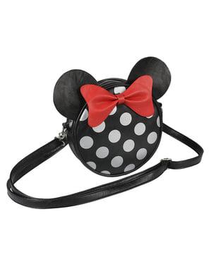 Minnie Mouse Rund Skuldertaske  med Ører og Sløjfe til Kvinder - Disney