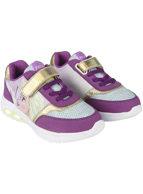 Elsa trainers with lights in purple for girls - Frozen