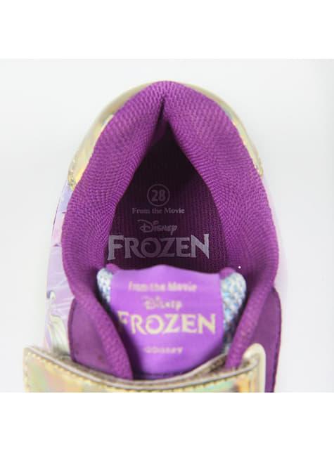 Zapatillas de Elsa moradas con luces para niña - Frozen