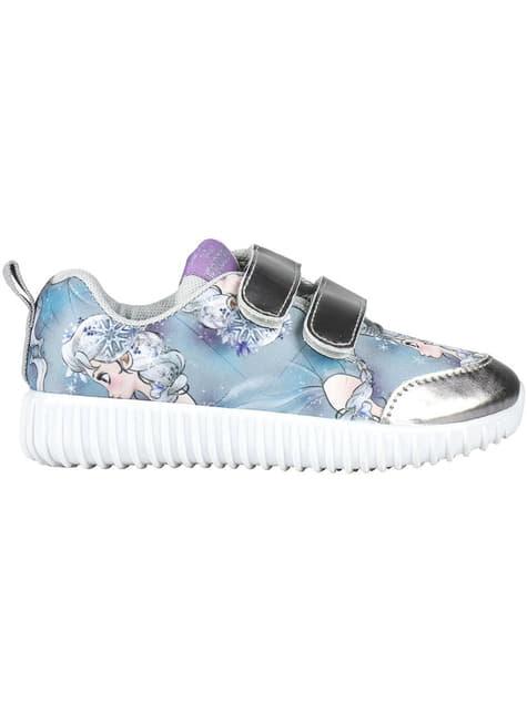 Baskets Elsa bleues lumineuses fille - La Reine des neiges