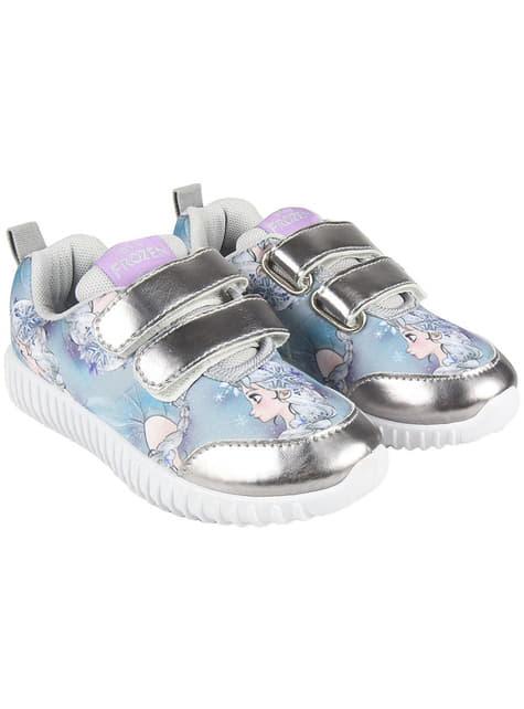 Zapatillas de Elsa azules con luces para niña - Frozen