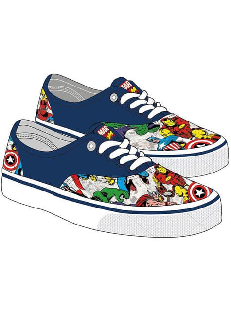 Baskets Avengers bleues garçon - Marvel