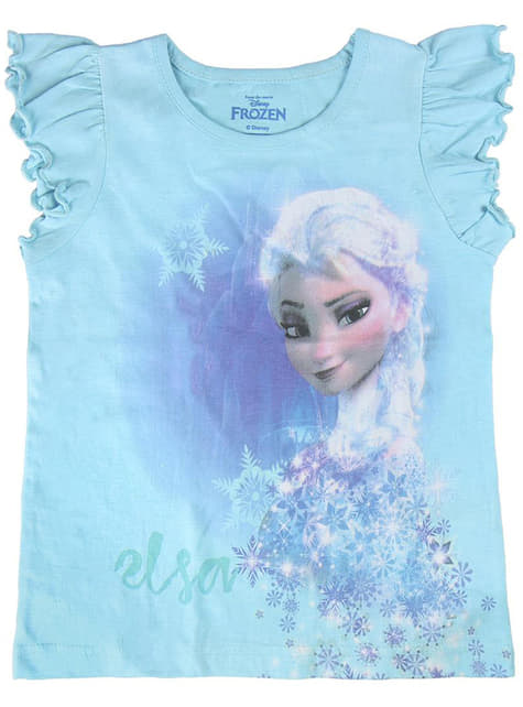 Elsa T-Shirt for Girls in Blue - Frozen