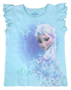 Tricou Elsa albastru pentru fată – Regatul de gheață (Frozen)