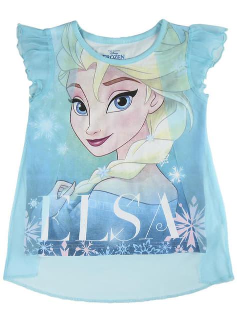 Camiseta de Elsa azul de tirantes para niña - Frozen