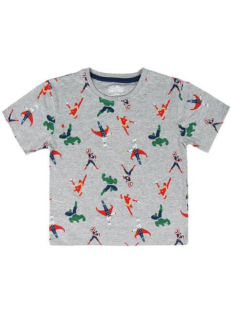 T-shirt de Os Vingadores cinzenta para menino - Marvel