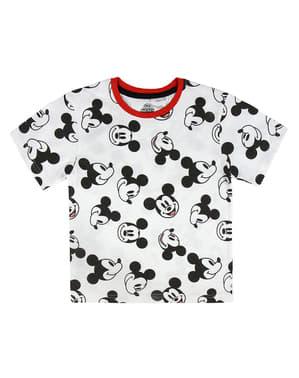 Мъжка тениска с къс ръкав Мики Маус за деца в бяло - Дисни