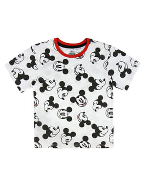 T-shirt Mickey Mouse manches courtes blanc enfant - Disney