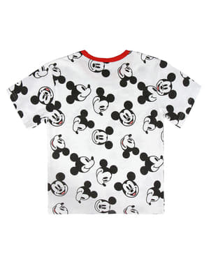 Mickey Mouse Short Sleeved T-Shirt for Kids in White - Disney