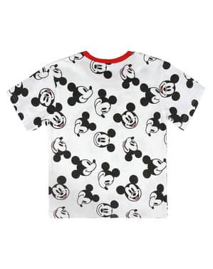 Wit Mickey Mouse T-shirt met korte mouwen voor kinderen - Disney