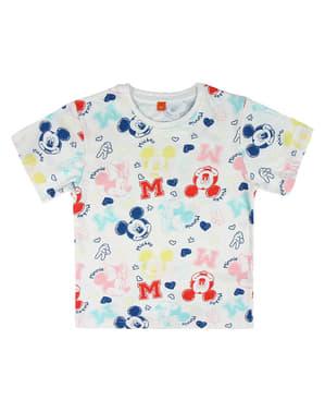 T-shirt de Mickey e Minnie Mouse de manga curta infantil - Disney