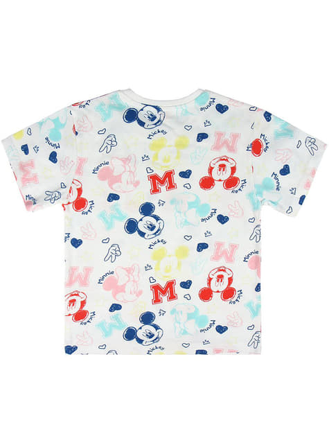 T-shirt Mickey et Minnie Mouse manches courtes enfant - Disney