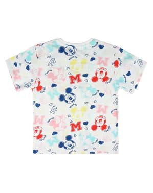 Camiseta de Mickey y Minnie Mouse de manga corta infantil - Disney