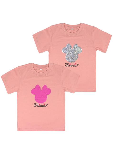 Camiseta de Minnie Mouse con lentejuelas para niña - Disney