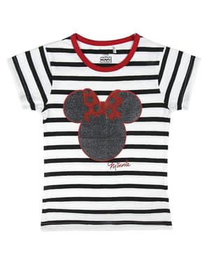 Minni Mus Stripet T-Skjorte til Jenter - Disney