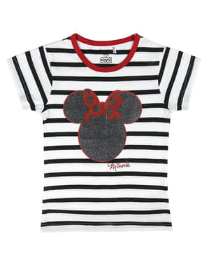 T-shirt di Minnie Mouse a righe per bambina - Disney