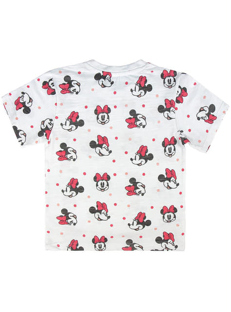 Minnie Mouse Polka Dot T-Shirt for Girls in White - Disney