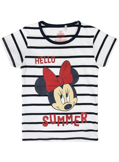 Camiseta de Minnie Mouse Hello Summer para niña - Disney
