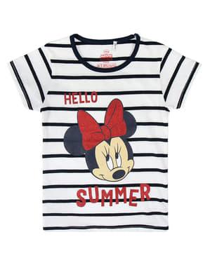 Minnie Mouse Hello Summer T-Shirt til Piger - Disney