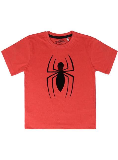 Camiseta Spiderman logo roja para niño - Marvel