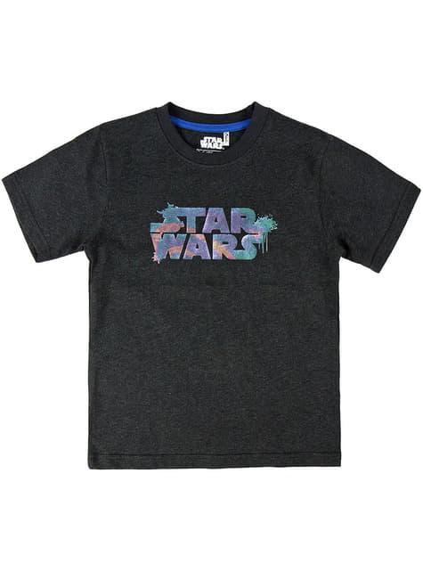 子供のためのスターウォーズロゴTシャツ