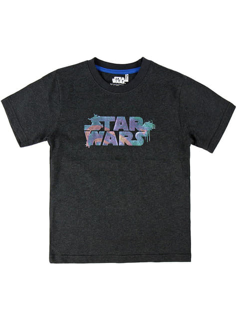 T-shirt Star Wars logo infantil