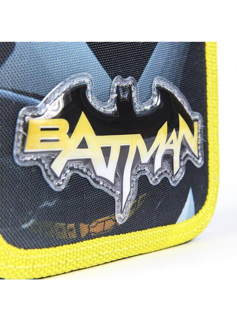 Estuche de tres cremalleras de Batman para niño - DC Comics