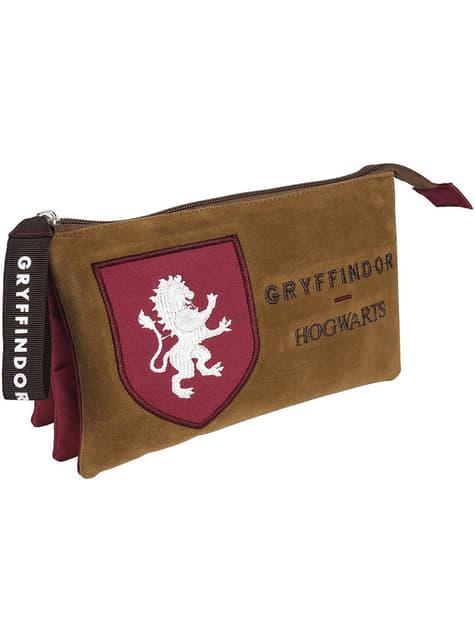 Estuche de Gryffindor con tres compartimentos - Harry Potter