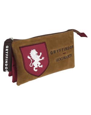 Üç bölmeli Gryffindor kalem kutusu - Harry Potter