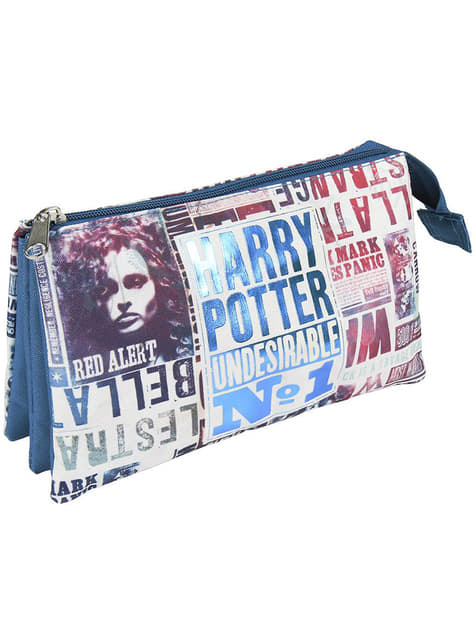 Estuche de Harry Potter Undesirable nº1 con tres compartimentos