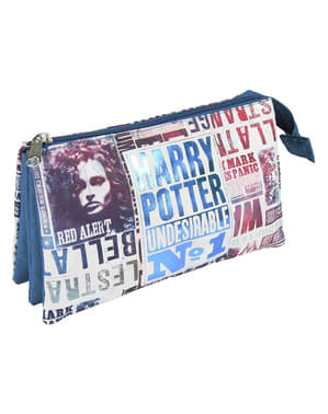 Harry Potter Kotak pensil no 1 yang tidak diinginkan dengan tiga kompartemen
