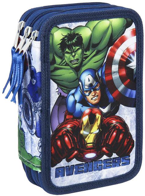 Estuche de 3 cremalleras Los Vengadores azul – Marvel