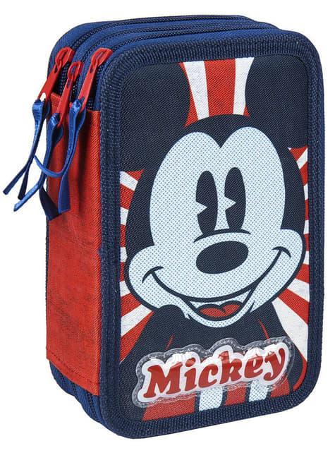 Estojo de Mickey Mouse triplo completo - Disney