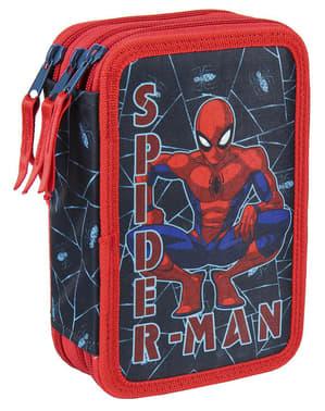 Kes pensil Spiderman dengan 3 zip untuk kanak-kanak lelaki - Marvel