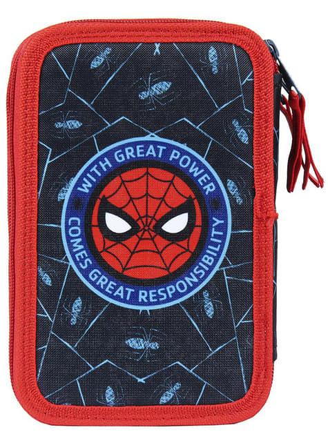 Estuche de 3 cremalleras Spiderman para niño - Marvel - oficial