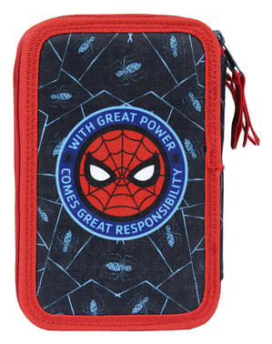 Spiderman pencil case with 3 zips for boys - Marvel