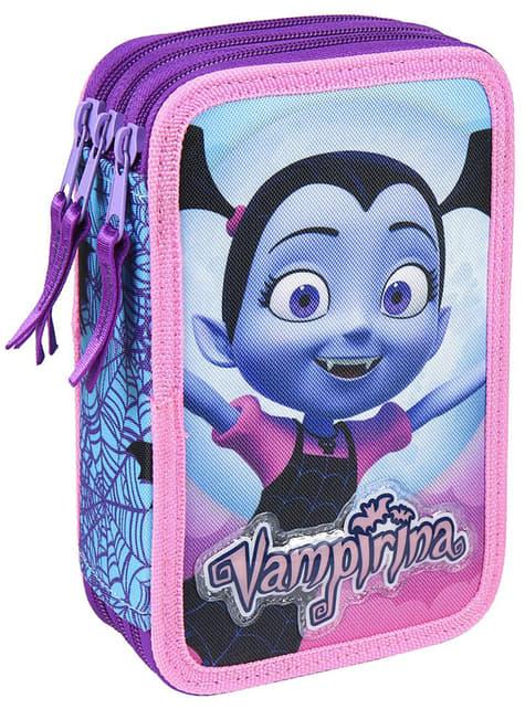 Estuche de 3 cremalleras de Vampirina para niña