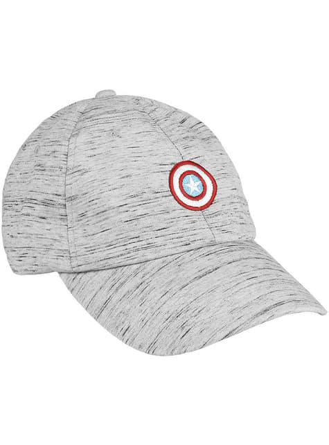 Gorra Capitán América gris con escudo infantil - Los Vengadores