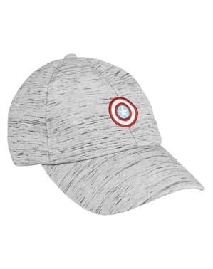 Ковпачок щит Капітана Америка в сірий колір для дітей - Месники