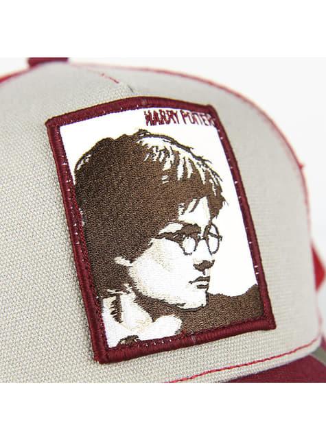 Harry Potter kasket i rød og hvid til voksne