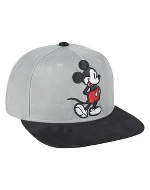 Mickey Mouse kasket med grå visir til børn - Disney
