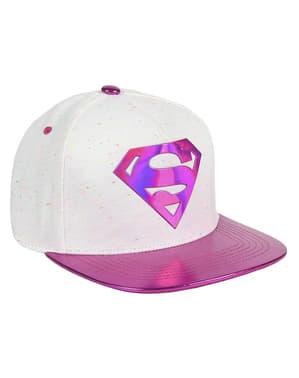 Gorra de Superman rosa para mujer