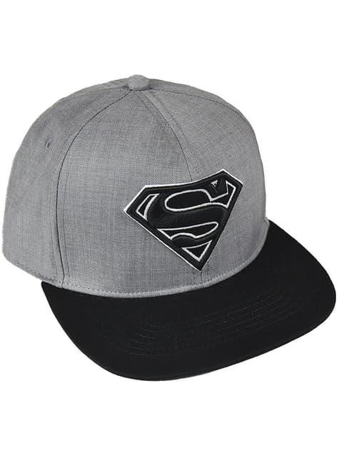 Gorra de Superman negra y gris para adulto