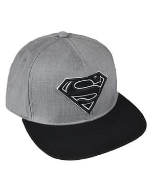 Superman Kappe schwarz und grau für Erwachsene