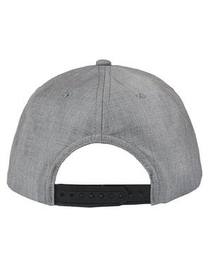Супермен шапка в чорний і сірий для дорослих