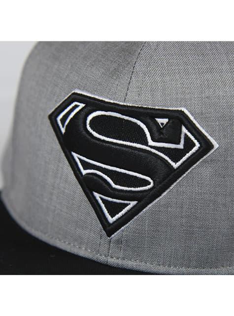 Gorra de Superman negra y gris para adulto - barato