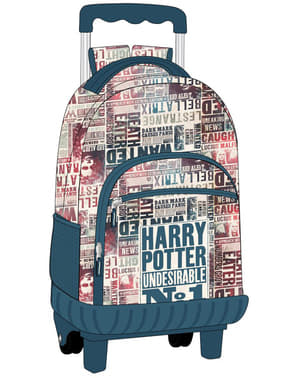 Sac à dos scolaire à roulettes Harry Potter Undesirable nº1